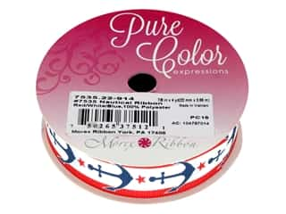 "craft & hobbies: Morex Ribbon Nautical 7/8""x 4yd Red/White/Blue"