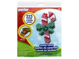 beading & jewelry making supplies: Perler Fused Bead Kit Trial Candy Cane