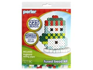 beading & jewelry making supplies: Perler Fused Bead Kit Trial 3D Snowman