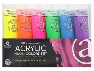 Art Advantage Paint Set Acrylic 4 oz. Neon 6 Color