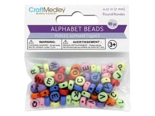 craft & hobbies: Multicraft Bead Alphabet Multi Mix