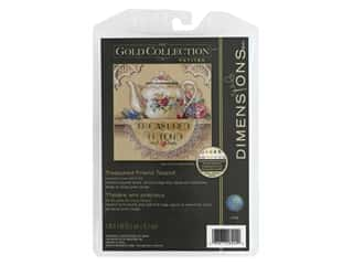 Dimensions Cross Stitch Kit 6 x 6 in. Treasured Friend Teapot