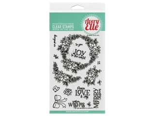 Avery Elle Clear Stamp Rustic Wreath