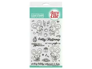 Avery Elle Clear Stamp Christmas Mice