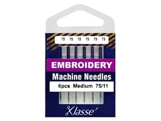 Klasse Machine Needle Embroidery Size 75/11 6pc