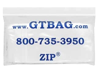 "G.T.Zip Bags Plain 2mil Acid Free 100pc 3""x 4"""