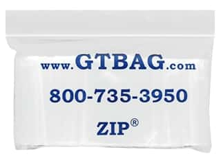 "G.T.Zip Bags Plain 2mil Acid Free 100pc 1.5""x 1.5"""