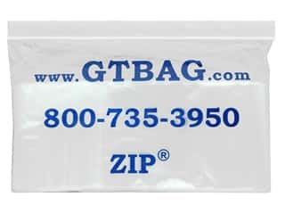 craft & hobbies: GTZIP Plain 2 Mil Zip Bags 3 x 5 in. Clear 100 pc.