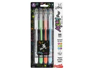 art, school & office: Pentel Pen Milky Pop Pastel Gel Medium Assorted 4 pc