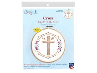 "projects & kits: Jack Dempsey Hoop Kit 6"" Cross"