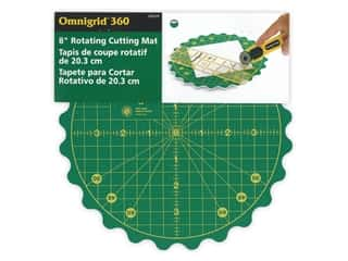 "Omnigrid Cutting Mat Rotating 8"" Round"