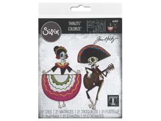 Sizzix Dies Tim Holtz Thinlits Day Of The Dead Colorize