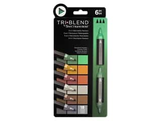 Crafter's Companion Spectrum Noir Tri Blend Marker Set Woodland 6pc