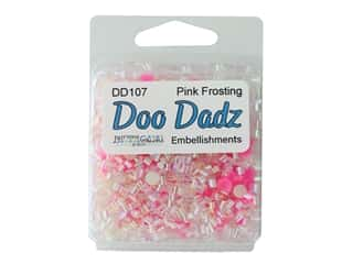 craft & hobbies: Buttons Galore Embellishments DooDadz Pink Frosting