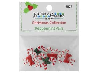 Buttons Galore Theme Button Christmas Collection Peppermint Pairs