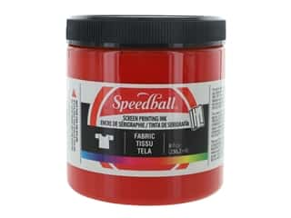 Speedball Fabric Screen Printing Ink 8 oz. Red