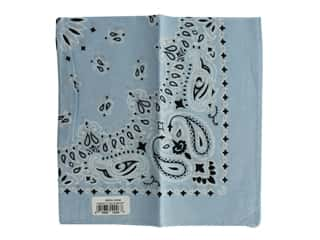 Carolina Creative Bandana 22 x 22 in. Paisley Light Blue