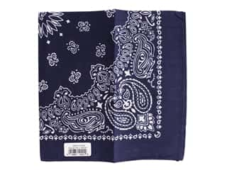 Carolina Creative Bandana 22 x 22 in. Paisley Navy