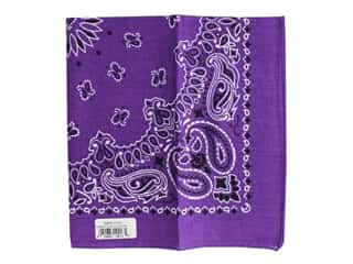 Carolina Creative Bandana 22 x 22 in. Paisley Purple