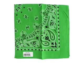 craft & hobbies: Carolina Creative Bandana 22 x 22 in. Paisley Kelly Green