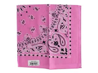 Carolina Creative Bandana 22 x 22 in. Paisley Light Pink