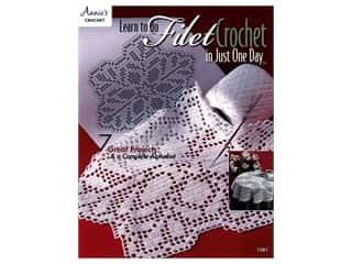 Annie's Learn To Do Filet Crochet in Just One Day Book