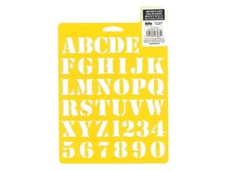 craft & hobbies: Delta Stencil Mania 7 x 10 in. Alphabet Basic