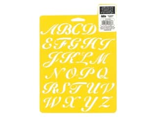 craft & hobbies: Delta Stencil Mania 7 x 10 in. Alphabet Script