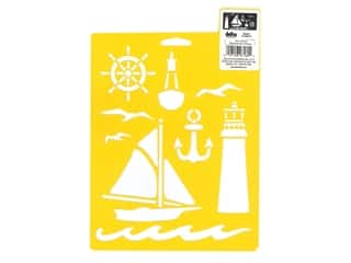 craft & hobbies: Delta Stencil Mania 7 x 10 in. Nautical
