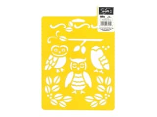 craft & hobbies: Delta Stencil Mania 7 x 10 in. Owls