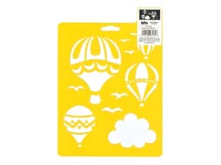Delta Stencil Mania 7 x 10 in. Hot Air Balloons