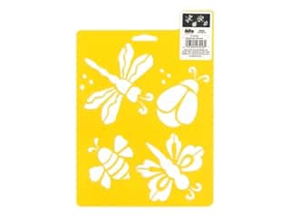 craft & hobbies: Delta Stencil Mania 7 x 10 in. Bugged