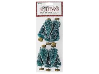 craft & hobbies: Darice Sisal Tree 3 in. Green with Frost 10 pc.