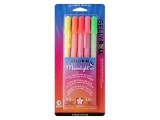 Sakura Gelly Roll Pen Moonlight Fluorescent Set Dawn 5 pc.
