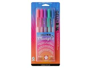 Sakura Gelly Roll Pen Moonlight Fluorescent Set Dusk 5 pc.