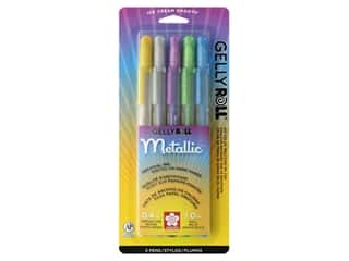 craft & hobbies: Sakura Gelly Roll Metallic Pen Set Hot 5 pc.