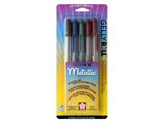 craft & hobbies: Sakura Gelly Roll Metallic Pen Set Dark 5 pc.