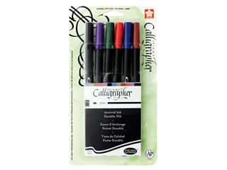 Sakura Pigma Calligrapher Pen 2 mm Assorted Color 6 pc.