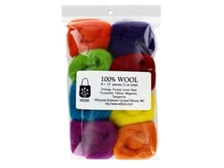 Wistyria Editions 100% Wool Roving 8pc Fiesta