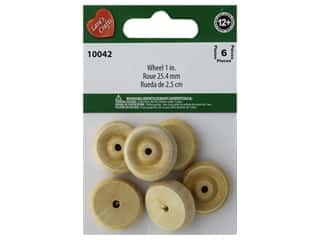 Lara's Wood Toy Wheel 1 in. 6 pc.