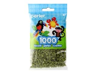 beading & jewelry making supplies: Perler Fused Bead Bag Olive 1000 pc