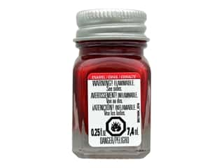 Testors Enamel Paint .25oz Gloss Stop Light Red