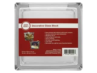 craft & hobbies: Essentials By Leisure Arts Decor Glass Block 7 1/2 in. Square (4 pieces)