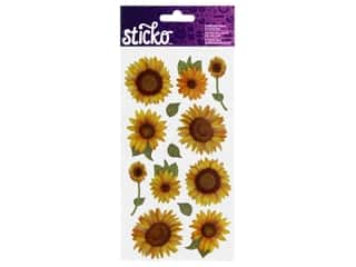 Stickers: Sticko Dimensional Stickers - Sunflowers