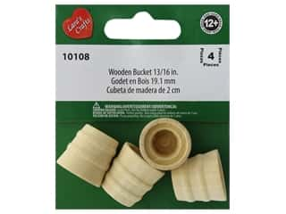 Lara's Wood Bucket 1 3/16 in. 4 pc