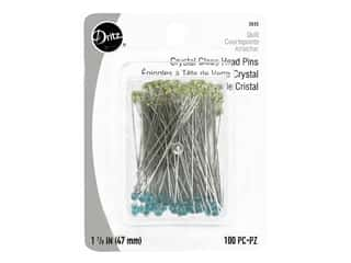 Dritz Crystal Glass Head Pins 1 7/8 in. 100 pc.
