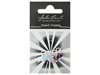 beading & jewelry making supplies: John Bead Czech Bicone Charms 6mm Passion Fruit