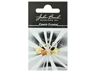 beading & jewelry making supplies: John Bead Czech Bicone Charms 8mm Amber Sunset