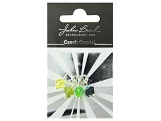beading & jewelry making supplies: John Bead Czech Bicone Charms 8mm Citrus Breeze