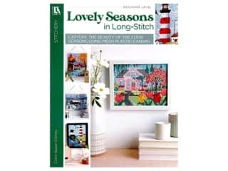 Leisure Arts Lovely Seasons In Long Stitch Plastic Canvas Book